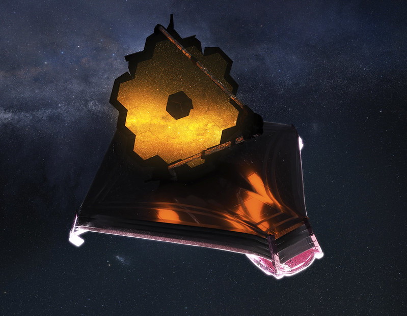 Artist's impression of the James Webb Space Telescope. Courtesy of NASA.